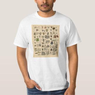 ヴィンテージの昆虫の昆虫学の分類学のTシャツ Tシャツ