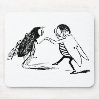 ヴィンテージの昆虫の踊ること; Bluebottleのはえ マウスパッド