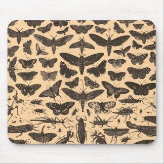ヴィンテージの昆虫学のマウスパッド マウスパッド