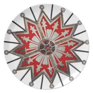 ヴィンテージの星の賭博の車輪によって印刷されるプレートの壁Deco プレート