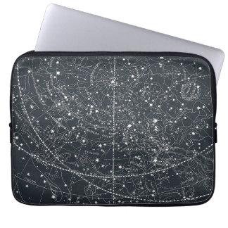 ヴィンテージの星座の地図 ノートパソコンスリーブ