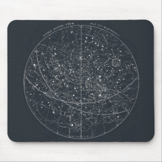 ヴィンテージの星座の地図 マウスパッド