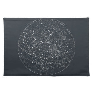 ヴィンテージの星座の地図 ランチョンマット