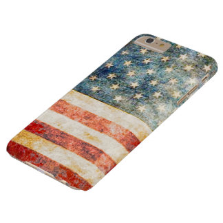 ヴィンテージの星条旗の米国旗 BARELY THERE iPhone 6 PLUS ケース