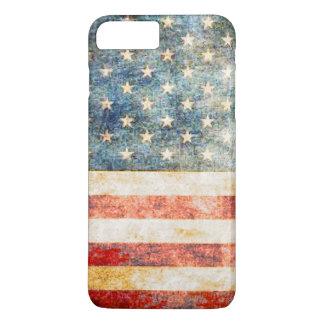 ヴィンテージの星条旗の米国旗 iPhone 8 PLUS/7 PLUSケース