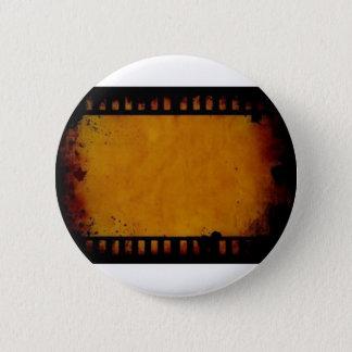 ヴィンテージの映画フィルムのストライブ柄 5.7CM 丸型バッジ