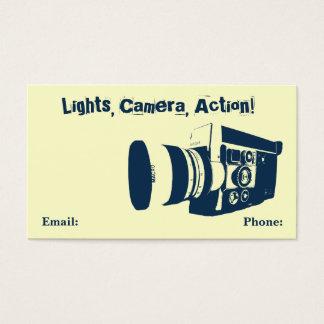 ヴィンテージの映画用カメラの名刺 名刺