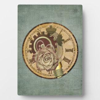 ヴィンテージの時計のコラージュ フォトプラーク