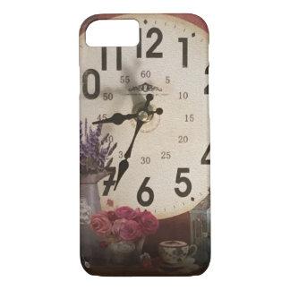 ヴィンテージの時計のプリントのiPhone 7の場合 iPhone 8/7ケース