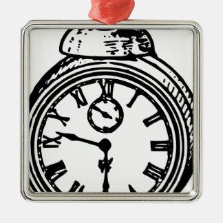 ヴィンテージの時計 メタルオーナメント