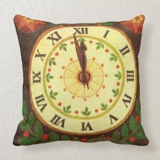 ヴィンテージの時計、秒読みのクリスマス鐘のヒイラギ クッション