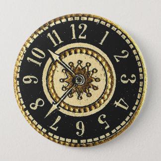 ヴィンテージの時計 缶バッジ