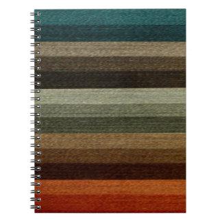 ヴィンテージの暖かい秋の縞模様、地球の調子 ノートブック