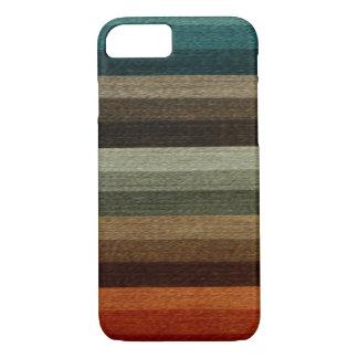 ヴィンテージの暖かい秋の縞模様、地球の調子 iPhone 8/7ケース