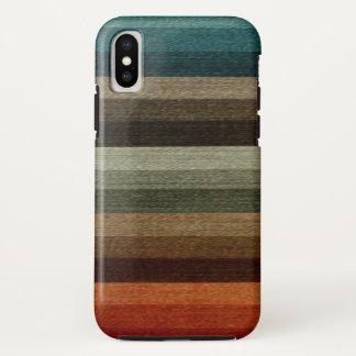 ヴィンテージの暖かい秋の縞模様、地球の調子 iPhone X ケース