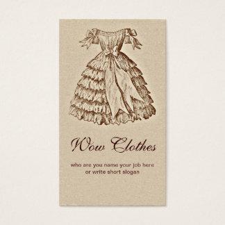 ヴィンテージの服の流行の名刺 名刺