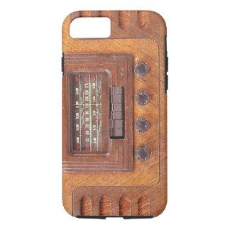 ヴィンテージの木のラジオ iPhone 8/7ケース