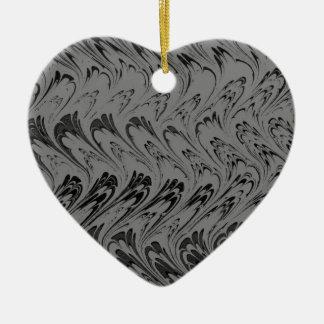 ヴィンテージの木炭はレトロの黒いハートのオーナメントを振ります セラミックオーナメント