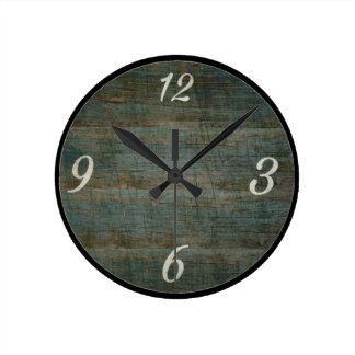 ヴィンテージの木製の一見の柱時計 ラウンド壁時計