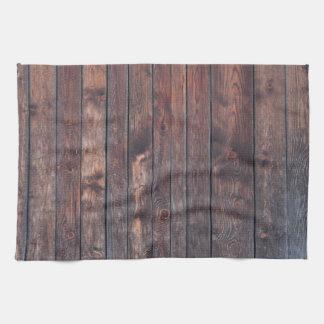 ヴィンテージの木製の壁の質 キッチンタオル