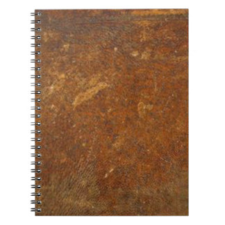 ヴィンテージの未加工革芸術 ノートブック