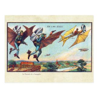 ヴィンテージの未来派の航空機色の芸術 ポストカード