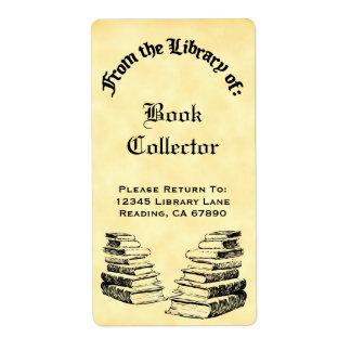 ヴィンテージの本のラベルの図書館からのカスタム ラベル