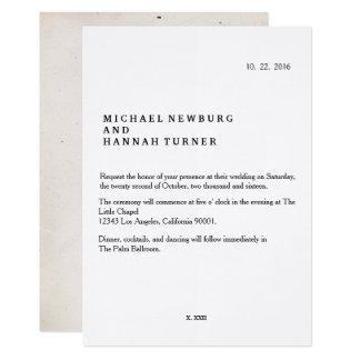 ヴィンテージの本の結婚式招待状 カード