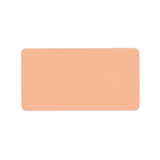 ヴィンテージの杏子のモモの名前入りなクリーム色色 宛名ラベル