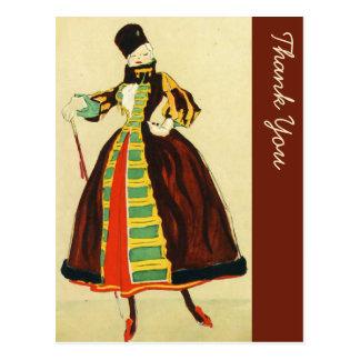 ヴィンテージの東ヨーロッパの軍隊はFahionのスタイルを作りました ポストカード