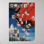 ヴィンテージの東京旅行 ポスター