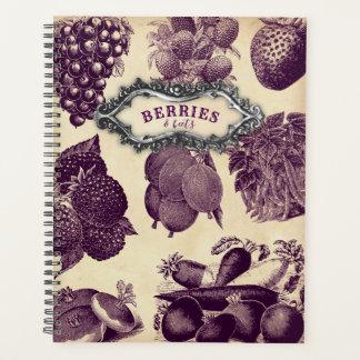 ヴィンテージの果実及びビートの野菜フルーツのプランナー プランナー手帳