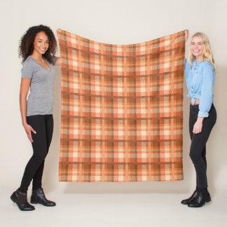 ヴィンテージの格子縞のフリースペット毛布 フリースブランケット