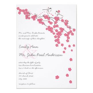 ヴィンテージの桜の日本のな結婚式の招待 カード