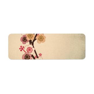 ヴィンテージの桜のAveryのラベル ラベル