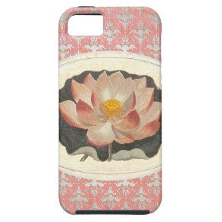 ヴィンテージの植物のはす花のエレガントなヨガ iPhone SE/5/5s ケース