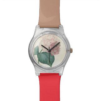 ヴィンテージの植物のアジサイのRedoute May28thの腕時計 腕時計