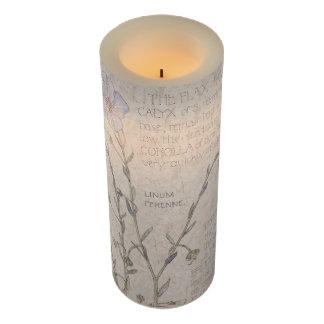 ヴィンテージの植物の亜麻の花のFlameless蝋燭 LEDキャンドル