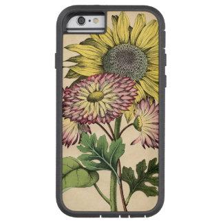 ヴィンテージの植物の花のヒマワリ及びイチジクマリーゴールド TOUGH XTREME iPhone 6 ケース
