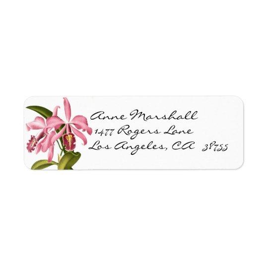 ヴィンテージの植物の蘭のAveryのラベル 返信用宛名ラベル