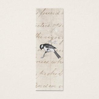 ヴィンテージの歌の鳥のイラストレーション- 1800's鳥の文字 スキニー名刺