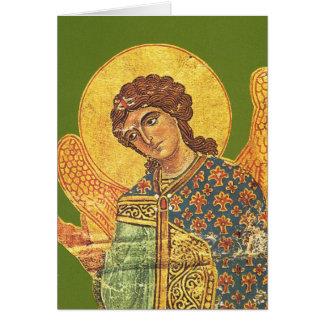 ヴィンテージの正統のikon、天使ガブリエル グリーティングカード