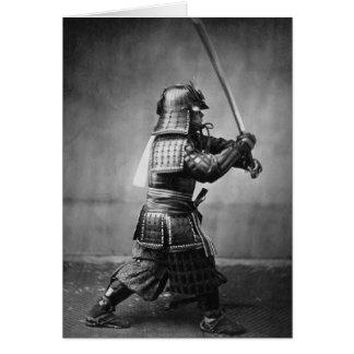 ヴィンテージの武士の写真の挨拶状 カード