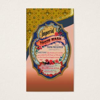 ヴィンテージの歯の洗浄ポスター名刺 名刺