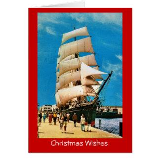 ヴィンテージの歴史的な船、インド、サンディエゴの星 カード