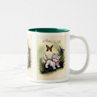 ヴィンテージの母の日のマグ ツートーンマグカップ