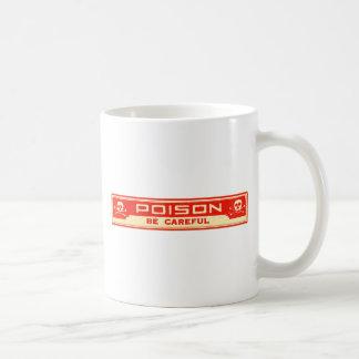ヴィンテージの毒は注意深いラベルです コーヒーマグカップ