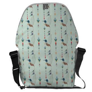 ヴィンテージの民族の種族のアズテック派の鳥 メッセンジャーバッグ