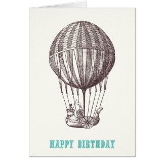 ヴィンテージの気球のハッピーバースデーカード カード