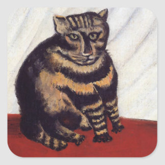 ヴィンテージの気難しい猫 スクエアシール